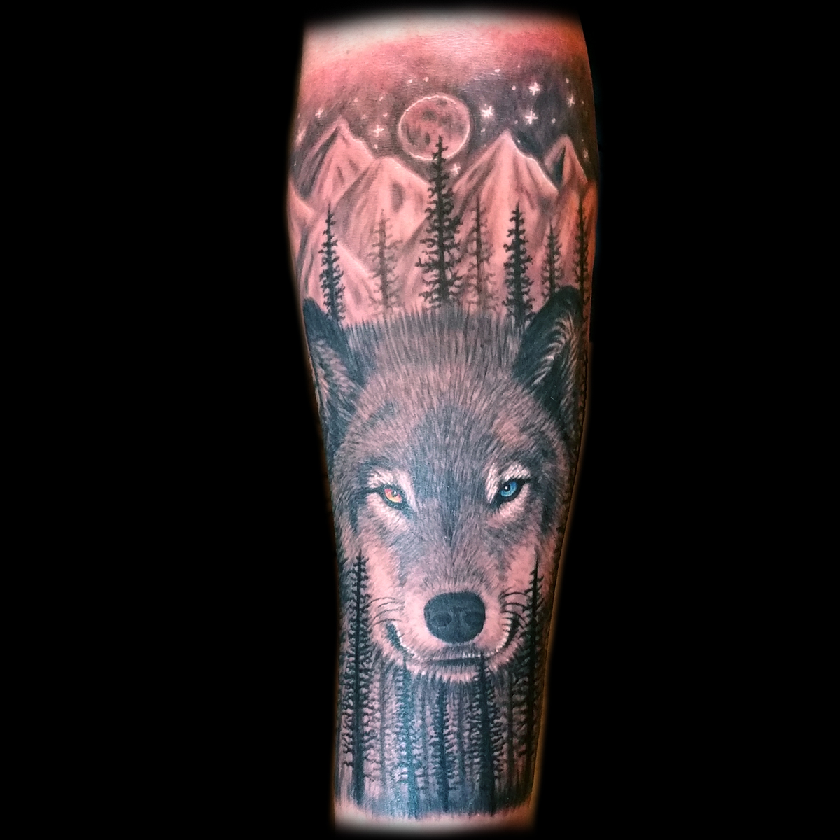 Realistic Wolf Tattoo Done At Masterpiece Tattoo In San