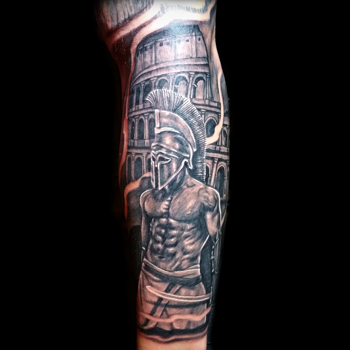 Realistic Warrior Gladiator Tattoos Done At Masterpiece Tattoo